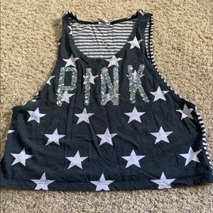 Pink Stars and Stripes tank